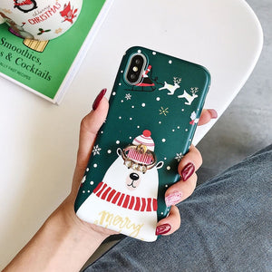 Snowman & deer Christmas Phone Case For iPhone
