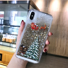 Load image into Gallery viewer, Dynamic Liquid Quicksand Christmas Phone Case For iPhone