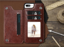 Load image into Gallery viewer, WALLET PHONE CASE WITH CARD SLOT FOR IPHONE