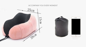 Portable U Shaped Memory Neck Pillow