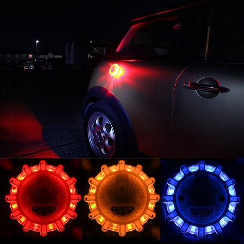 Magnetic LED Emergency Safety Flare Set