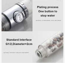 Load image into Gallery viewer, StoneStream™ 3 Mode High-Pressure Shower Head with Stop Button