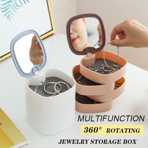360 Degree Rotating Jewelry Storage Box
