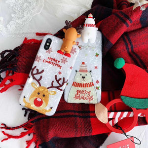 Lovely Christmas 3D Phone Case For iPhone