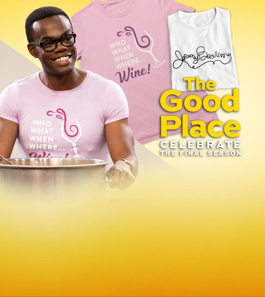 The Good Place final season clothing, accessories, drinkware