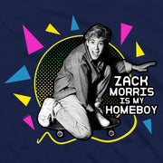 Saved By The Bell Zack Morris is my Homeboy Men's Short Sleeve T-Shirt