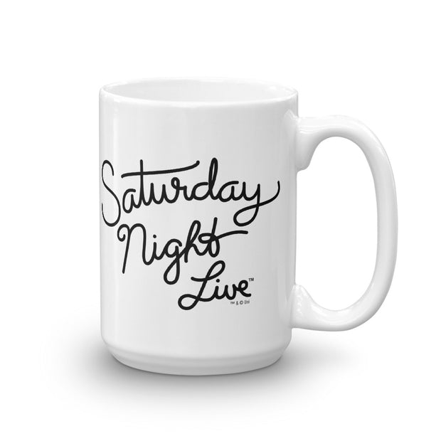 Saturday Night Live Script Logo White Mug