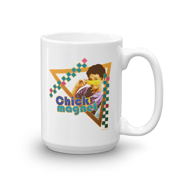 Saved By The Bell Chick Magnet White Mug
