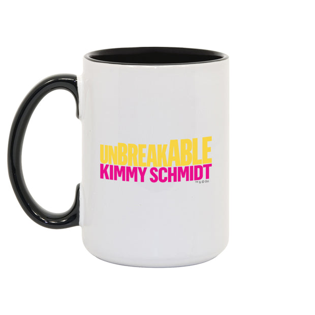 Unbreakable Kimmy Schmidt I Don't Sweat  I Sparkle White and Black Mug