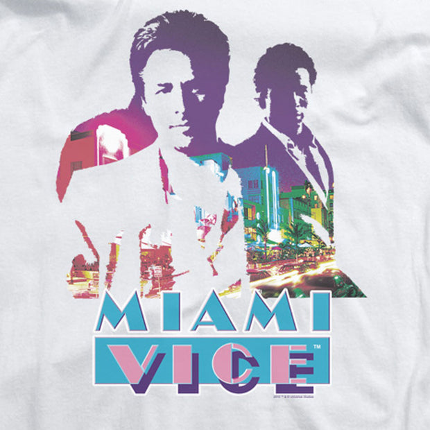 Miami Vice Crockett and Tubbs Long Sleeve T-Shirt