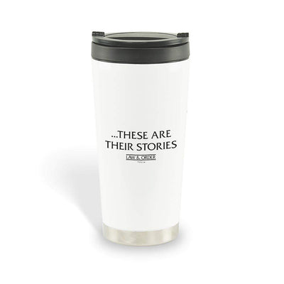 Law & Order These Are Their Stories Stainless Steel Travel Mug