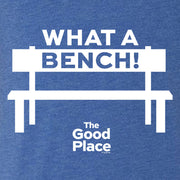 The Good Place What a Bench Men's Tri-Blend Short Sleeve T-Shirt