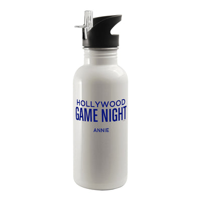 Personalized Hollywood Game Night Water Bottle