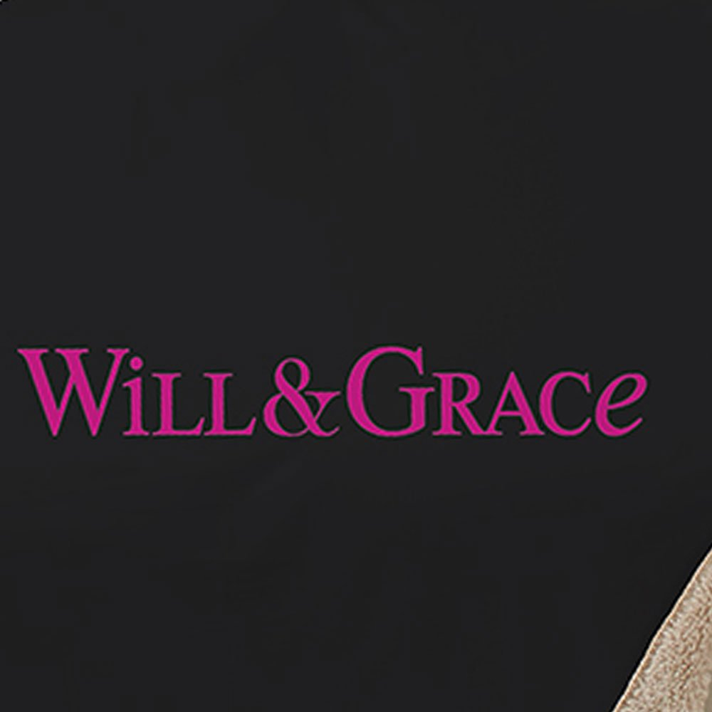 Will & Grace Logo Sherpa Throw Blanket-secondary-image