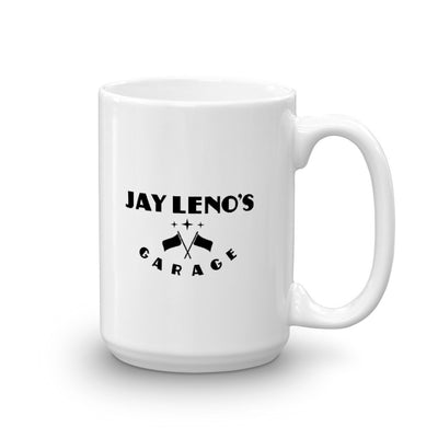 Jay Leno's Garage Original Vertical Logo White Mug