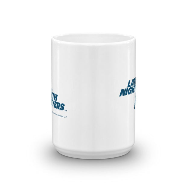 Late Night With Seth Meyers 15 oz White Mug