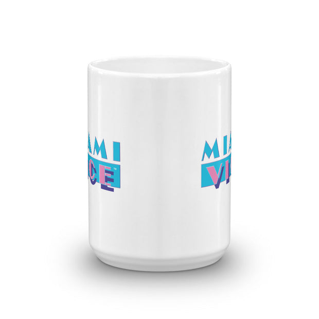 Miami Vice Logo White Mug