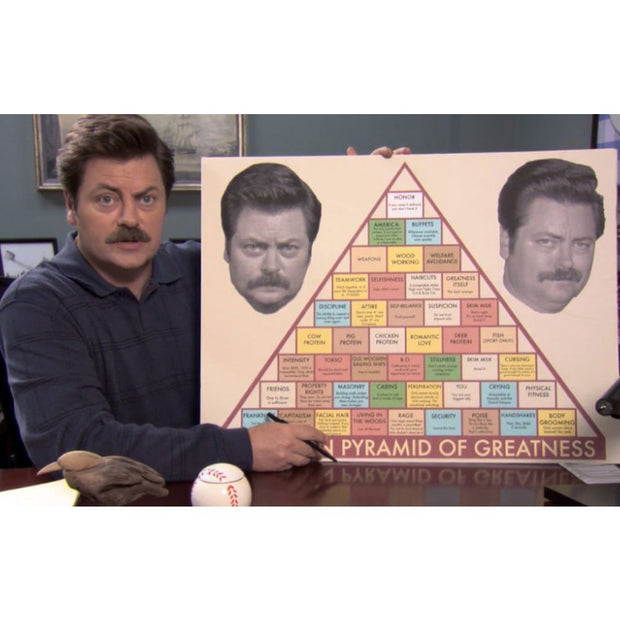 Parks and Recreation Swanson Pyramid of Greatness Poster - 18x24