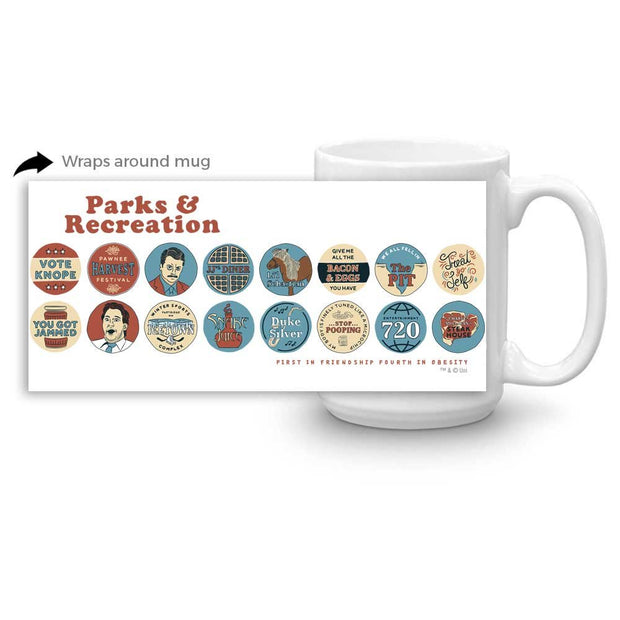 Parks and Recreation Quote Mash-Up White Mug