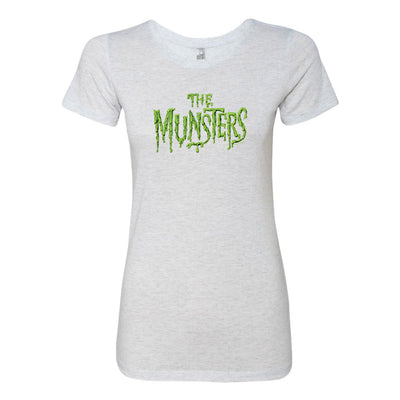 The Munsters Distress Logo Women's Tri-Blend Short Sleeve T-Shirt