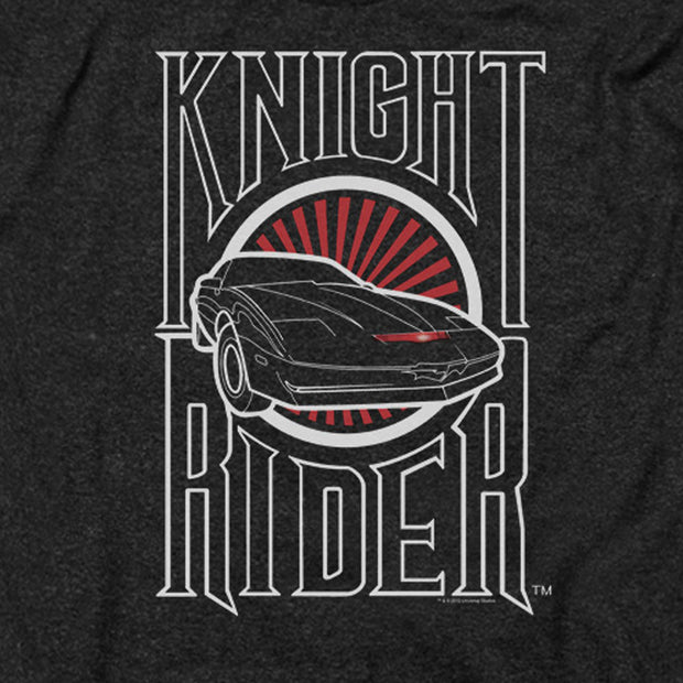 Knight Rider Logo Heather Short Sleeve T-Shirt