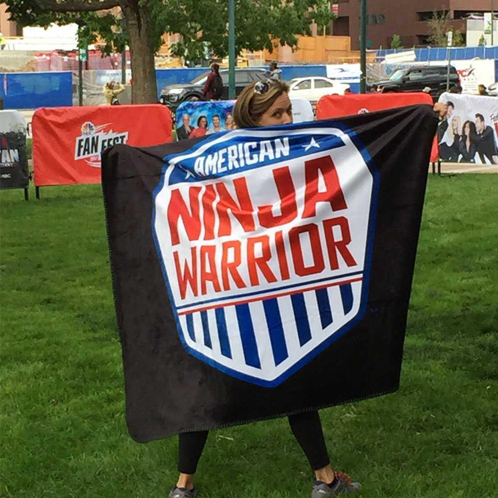 American Ninja Warrior Faux Mink Sherpa Throw Blanket - 60 x 50-secondary-image