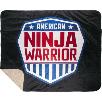American Ninja Warrior Faux Mink Sherpa Throw Blanket - 60 x 50