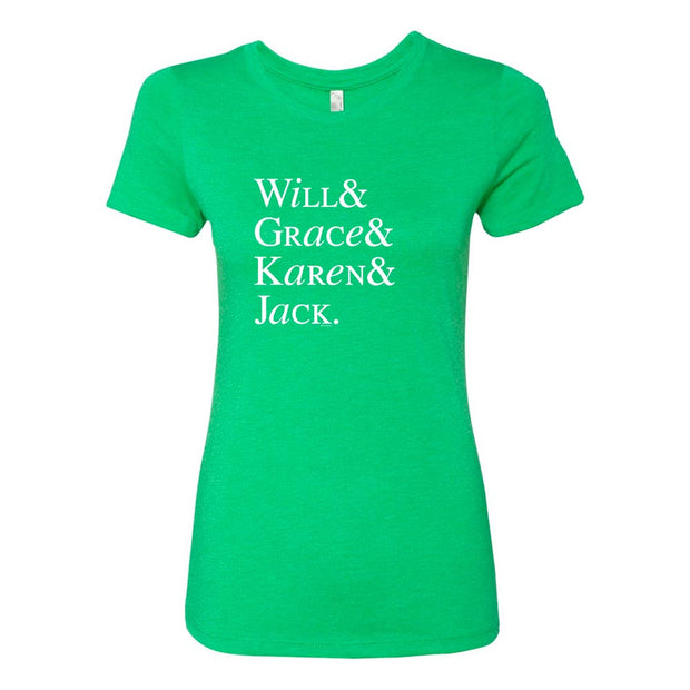 Will & Grace Names St. Paddy's Day Women's T-Shirt