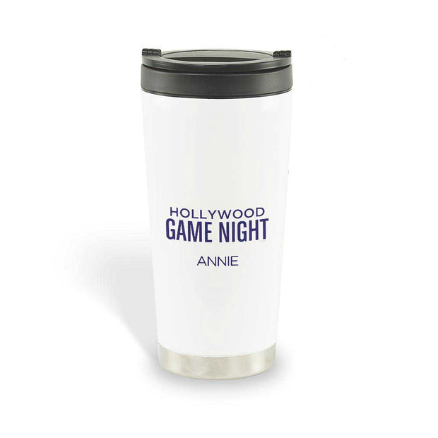 Personalized Hollywood Game Night Travel Mug