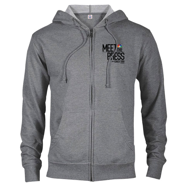 Meet The Press Lightweight Zip Up Hooded Sweatshirt