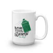 The Office Humans Are Terrible for the Environment  White Mug