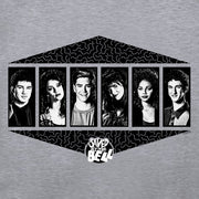 Saved By The Bell Black and White Cast Crew Neck Sweatshirt