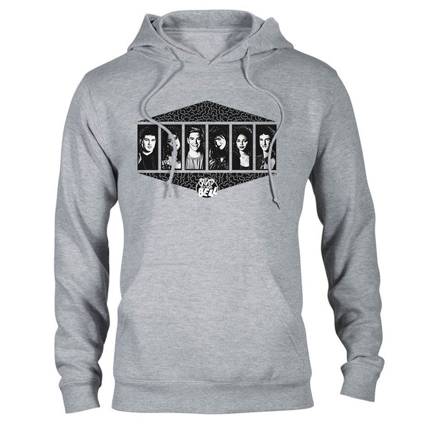 Saved By The Bell Black and White Cast Hooded Sweatshirt