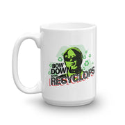 The Office Bow Down Before Recyclops White Mug