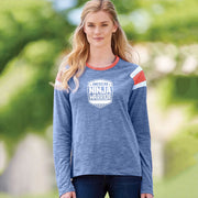 American Ninja Warrior Women's Red White and Blue Long Sleeve T