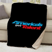 America's Got Talent Logo Sherpa Blanket