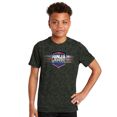 American Ninja Warrior Kids Digital Camo Performance T-Shirt