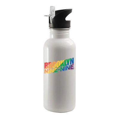 Brooklyn Nine-Nine Pride 20 oz Screw Top Water Bottle with Straw