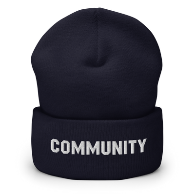 Community Logo Embroidered Cuffed Beanie - Made in the USA