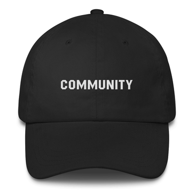 Community Logo Low Profile Cap Embroidered Hat