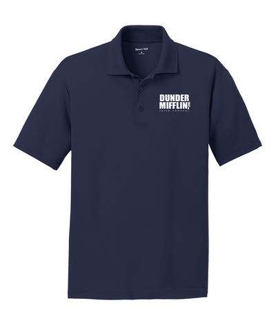 The Office Dunder Mifflin Men's Embroidered Polo