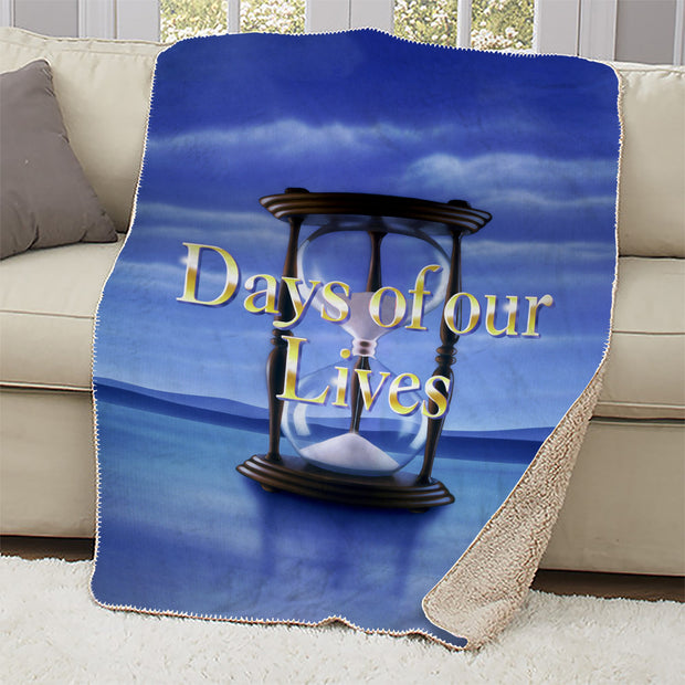 Days of Our Lives Logo Sherpa Blanket