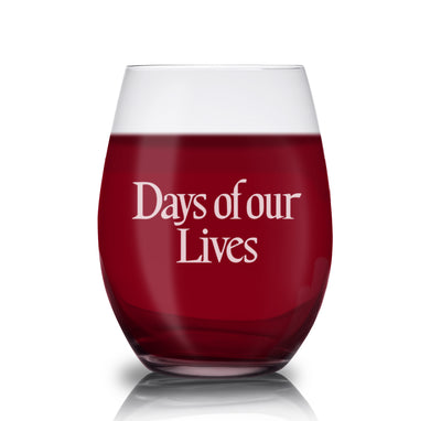 Days of Our Lives Logo Laser Engraved Stemless Wine Glass