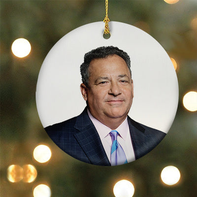 DATELINE Josh Mankiewicz Double-Sided Ornament