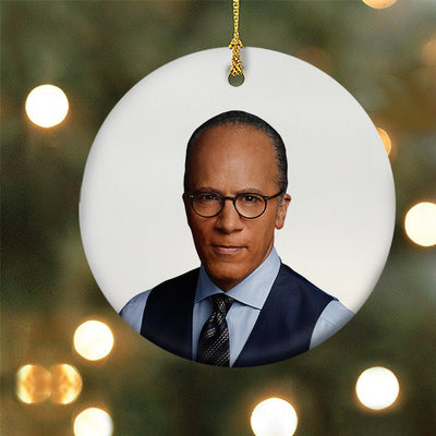 DATELINE Lester Holt Double-Sided Ornament