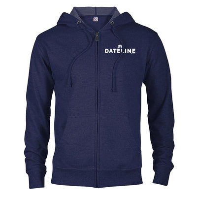 DATELINE Lightweight Zip Up Hooded Sweatshirt