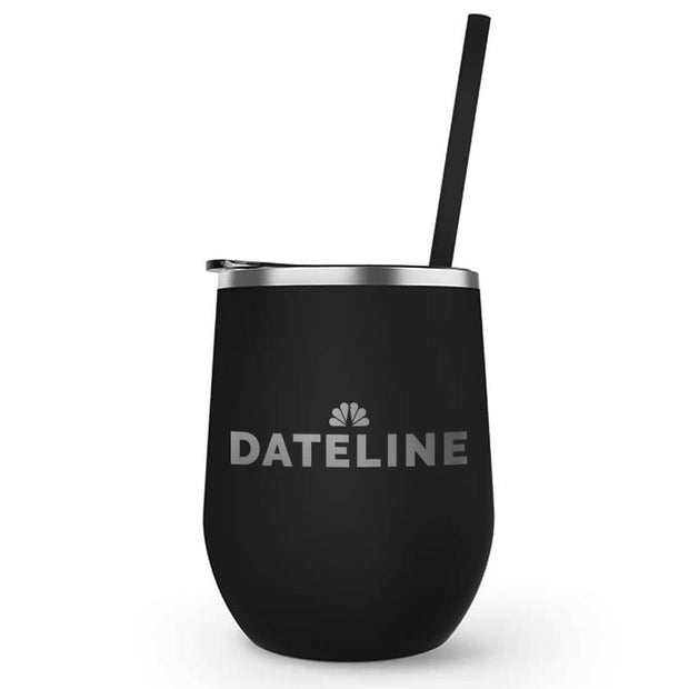 DATELINE Logo 12 Oz Stainless Steel Wine Tumbler