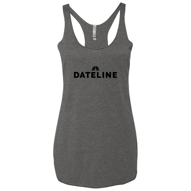 DATELINE Women's Tri-Blend Racerback Tank