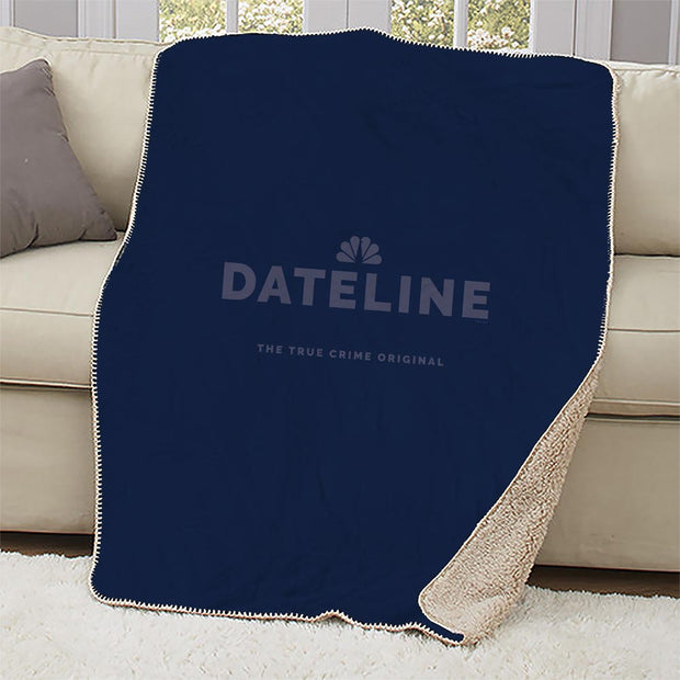 DATELINE The True Crime Original Sherpa Throw Blanket