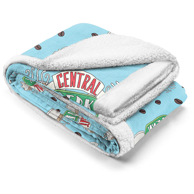 Friends Coffee Run Sherpa Blanket